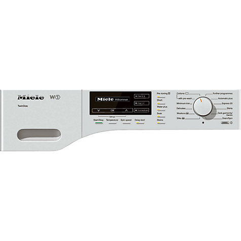 Buy Miele WKG 120 Washing Machine, 8kg Load, A+++ Energy Rating, 1600rpm Spin, ChromeEdition Online at johnlewis.com