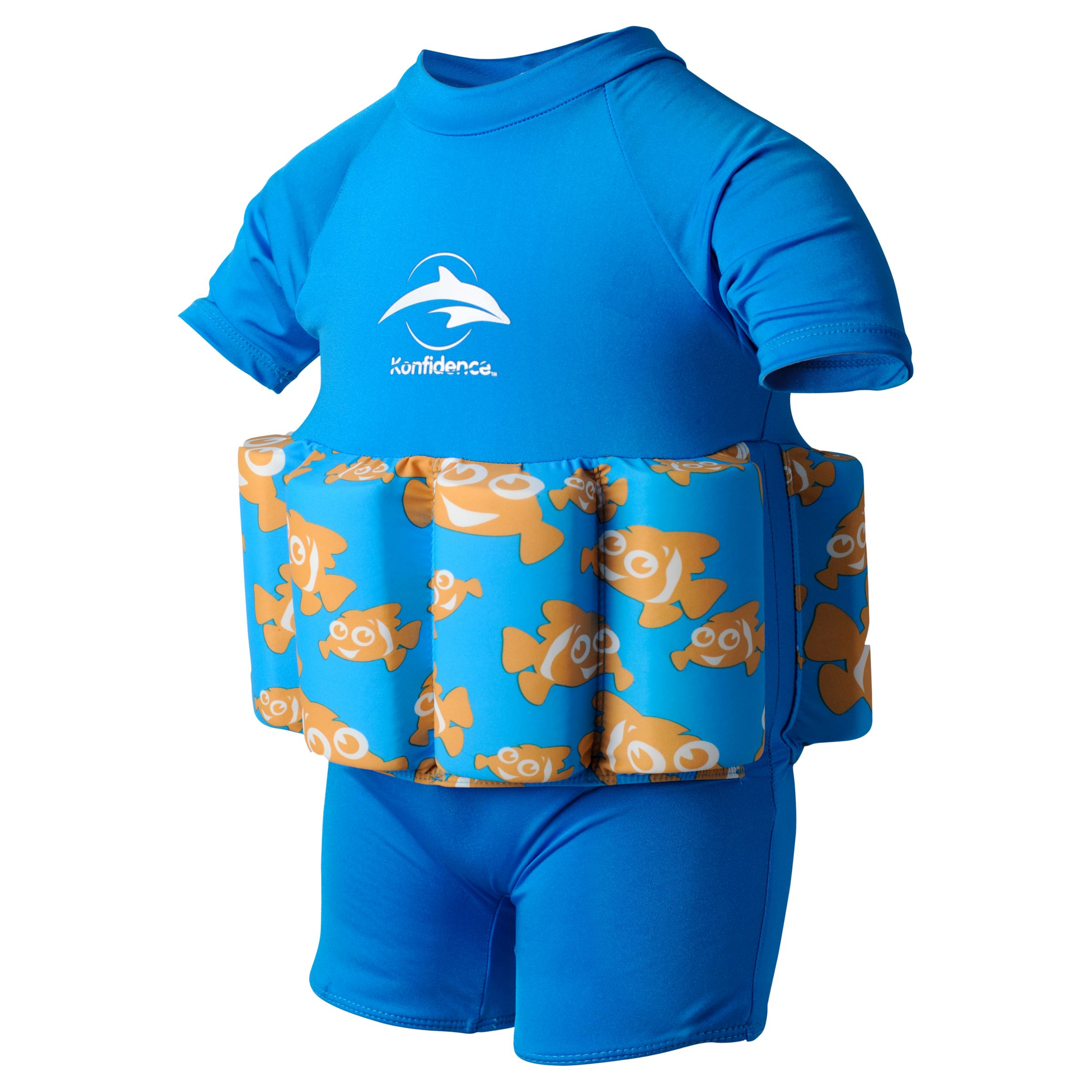 Buy Konfidence Clownfish Floatsuit, Blue Online at johnlewis.com  Cute baby swimwear 233088399  prod main