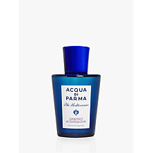 Buy Acqua di Parma Blu Mediterraneo Ginepro Di Sardegna Shower Gel, 200ml Online at johnlewis.com