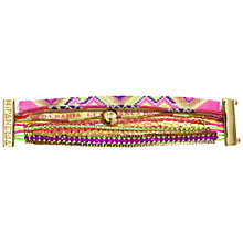 Buy Hipanema Amor Multi-Layer Sparkle Friendship Bracelet, Pink / Orange Online at johnlewis.com