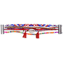 Buy Hipanema Funk Multi-Layer Shell Tassel Friendship Bracelet, Red Online at johnlewis.com