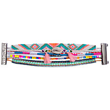 Buy Hipanema Fluo Multi-Layer Shell Tassel Friendship Bracelet, Multi Online at johnlewis.com