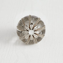 Buy Bombay Duck Filigree Flower and Glass Cupboard Knob, Dia.35mm Online at johnlewis.com