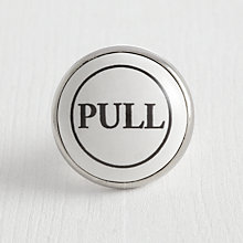 "Buy John Lewis ""Pull"" Cupboard Knob, Dia.38mm Online at johnlewis.com"