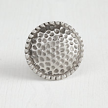 Buy Bombay Duck Hammered Effect Cupboard Knob, Silver, Dia.50mm Online at johnlewis.com