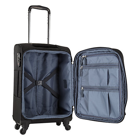 Buy Antler Stephano 4 Wheel Expandable Cabin Suitcase, Black Online at johnlewis.com
