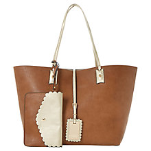 Buy Dune Dallop Scalloped Shopper Bag, Tan Online at johnlewis.com