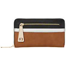 Buy Dune Kipster Zip Front Colour Block Purse, Black Online at johnlewis.com