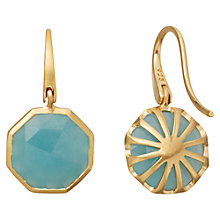 Buy Astley Clarke 18ct Yellow Gold Octagonal Drop Earrings Online at johnlewis.com