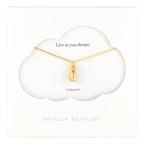 Buy Estella Bartlett Midnight Jungle Pineapple Pendant, Gold Online at johnlewis.com