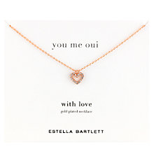 Buy Estella Bartlett Open Heart Cubic Zirconia Pendant, Rose Gold Online at johnlewis.com