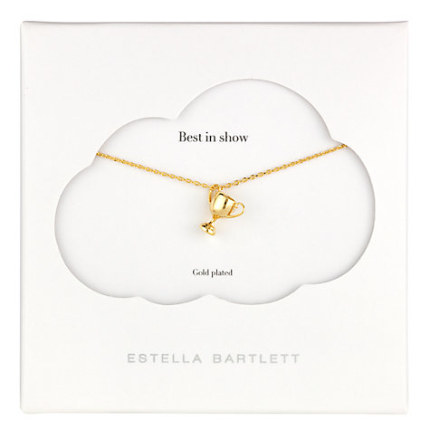 Buy Estella Bartlett Best in Show Trophy Pendant, Gold Online at johnlewis.com
