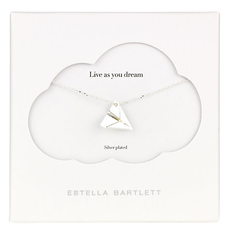 Buy Estella Bartlett Treasure Me Paper Plane Pendant, Silver Online at johnlewis.com
