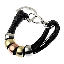Buy Adele Marie Multi Cord Metallic Beading Bracelet, Black Online at johnlewis.com