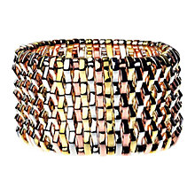 Buy Adele Marie Tri Colour Stretch Cuff Bangle, Multi Colour Online at johnlewis.com