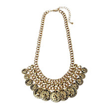 Buy Adele Marie Worn Silver Coin Charm Statement Necklace Online at johnlewis.com