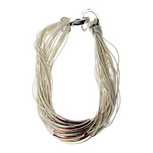 Buy Adele Marie Tri Colour Tube Cord Statement Necklace Online at johnlewis.com