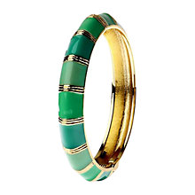 Buy Adele Marie Gold Mixed Enamel Hinged Bangle Online at johnlewis.com