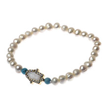 Buy Adele Marie Faux Pearl Hand of Hamsa Bead Bracelet, White Online at johnlewis.com