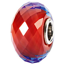 Buy Trollbeads Sahara Jewel Faceted Murano Glass Charm, Red Online at johnlewis.com