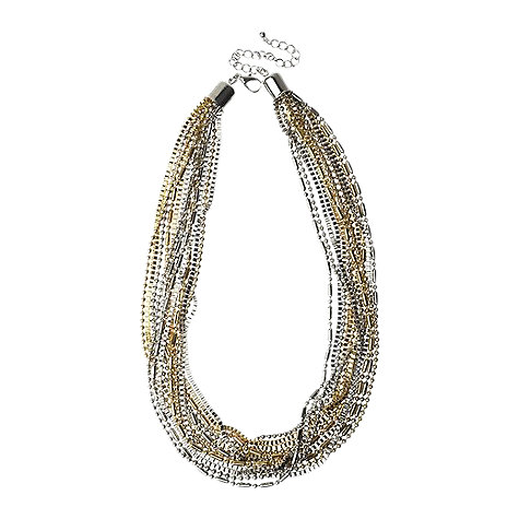 Buy Adele Marie Two Tone Assorted Metallic Chain Necklace, Gold Online at johnlewis.com