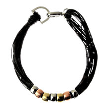 Buy Adele Marie Multi Cord Seven Bead Necklace, Black Online at johnlewis.com