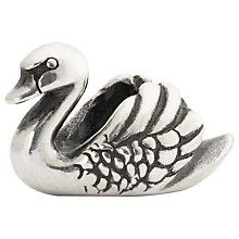 Buy Trollbeads Swan Sterling Silver Charm Online at johnlewis.com