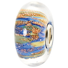 Buy Trollbeads Fountain of Life Murano Glass Charm, Blue / Gold Online at johnlewis.com