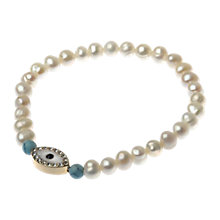 Buy Adele Marie Faux Pearl Evil Eye Charm Bracelet, White Online at johnlewis.com