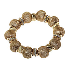 Buy Adele Marie Chunky Gold Mesh Diamante Bracelet Online at johnlewis.com