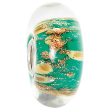 Buy Trollbeads Oasis Fine Italian Glass Charm, Green / Gold Online at johnlewis.com