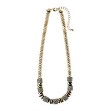 Buy Adele Marie Tri Colour Bead Diamante Chain Statement Necklace, Gold Online at johnlewis.com