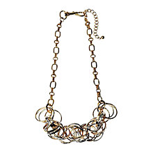 Buy Adele Marie Two Tone Ring Link Necklace, Gold / Silver Online at johnlewis.com