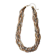 Buy Adele Marie Multi Metallic Plaited Mixed Chain Necklace, Gold Online at johnlewis.com