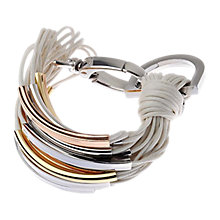 Buy Adele Marie Tri Colour Multi MetallicTube Bracelet, White Online at johnlewis.com