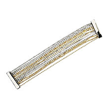 Buy Adele Marie Assorted Chain Two Tone Multi Row Bracelet, Gold Online at johnlewis.com