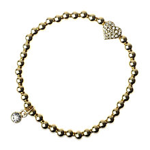 Buy Adele Marie Fine Bead Heart Bracelet Online at johnlewis.com