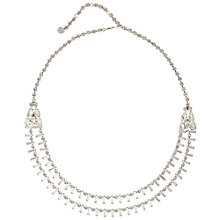 Buy Susan Caplan Vintage Bridal 1960s Crystal Double Tier Necklace, Silver Online at johnlewis.com