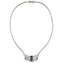 Buy Susan Caplan Vintage Bridal 1960s Atwood & Sawyer Swarovski Crystal Necklace, Blue Online at johnlewis.com