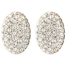 Buy Susan Caplan Vintage Bridal 1960s Swarovski Crystal Oval Clip-On Earrings Online at johnlewis.com