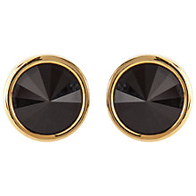 Buy Susan Caplan Vintage Bridal 1990s Swarovski Crystal Round Clip-On Earrings, Jet Black Online at johnlewis.com
