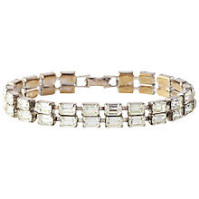 Buy Susan Caplan Vintage Bridal 1950s Weiss Emerald Cut Swarovski Crystal Bracelet Online at johnlewis.com