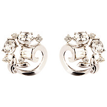 Buy Susan Caplan Vintage Bridal 1960s Trifari Swarovski Crystal Curved Clip-On Earrings, Silver Online at johnlewis.com