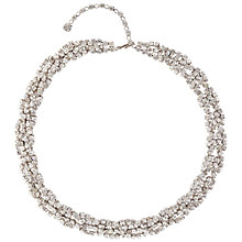 Buy Susan Caplan Vintage Bridal 1960s Crystal Twist Necklace, Silver Online at johnlewis.com