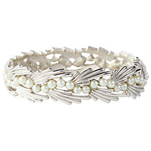 Buy Susan Caplan Vintage Bridal 1950s Trifari Deco Style Faux Pearl Bangle, Silver Online at johnlewis.com