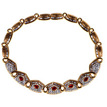Buy Alice Joseph Vintage Attwood & Sawyer Gilt Statement Necklace, Red / Gold Online at johnlewis.com