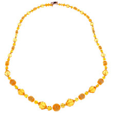 Buy Alice Joseph Vintage 1930s Graduated Bead Necklace, Yellow Online at johnlewis.com