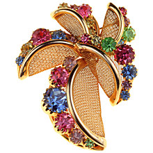 Buy Alice Joseph Vintage 1950s Pastel Diamante Gilt Brooch, Multi Online at johnlewis.com