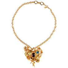 Buy Alice Joseph Vintage Christian Lacroix Gilt Metal Heart Pendant Online at johnlewis.com
