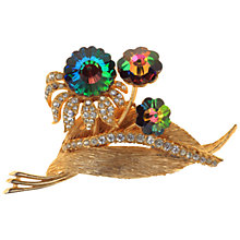 Buy Alice Joseph Vintage 1950s Exquisite Rivoli Stone Gilt Flower Brooch, Gold Online at johnlewis.com